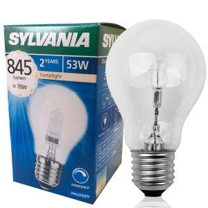 ampoule halog ne standard classic eco gls e27 53w 2800k sylvania ampoules service. Black Bedroom Furniture Sets. Home Design Ideas