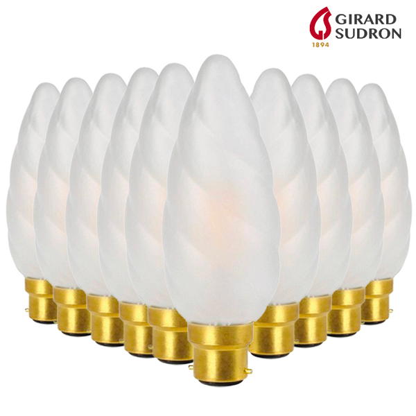 10 LED bulb pack B22 Filament 4W 450lm Twist Flame Giant Girard Sudron
