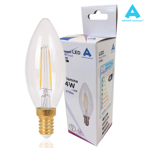 LED filament bulb E14 4W 470lm Flame Light Ariane
