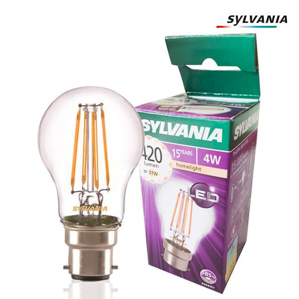 LED filament bulb ToLEDo Retro B22 4W Spherical Clear Sylvania