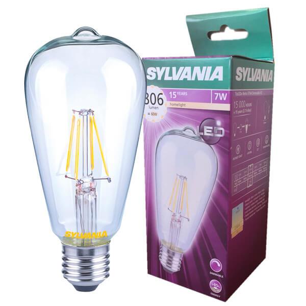 Led Filament Bulb Edison Toledo Retro V2 E27 7w Dimmable Light