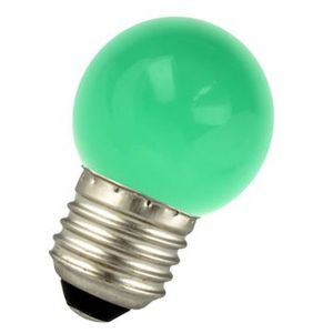 LED bulb E27 1W Spherical Green Ariane