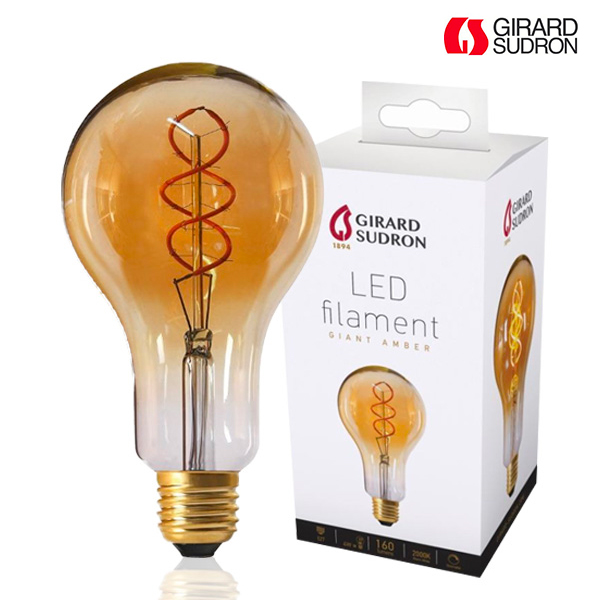 LED bulb Giant Filament TWISTED E27 4W Amber Dimmable Girard Sudron
