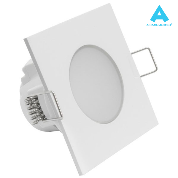 Spot encastré LED Waterproof 5W IP54 3000K Carré Ariane
