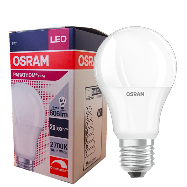 ampoule led e27 9w 2700k parathom classic a dimmable osram. Black Bedroom Furniture Sets. Home Design Ideas