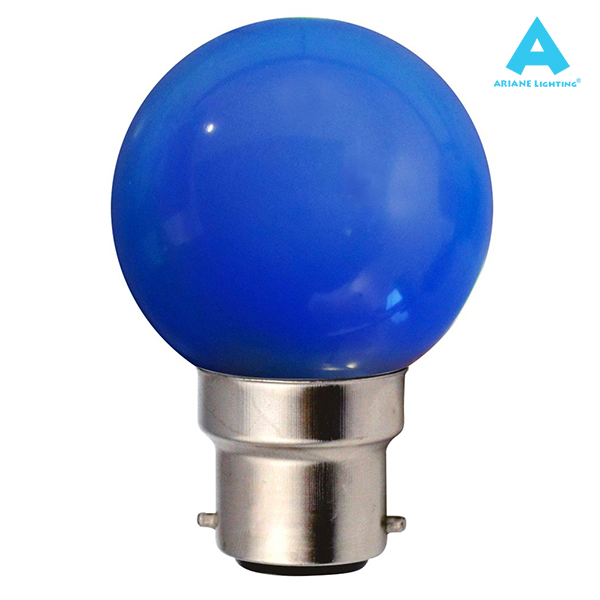LED Bulb B22 Spherical 1W Blue Ariane