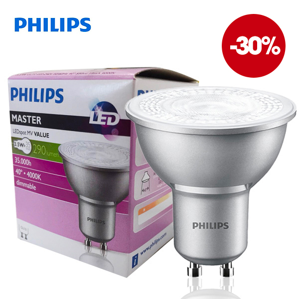 Reflector Master LEDSpot GU10 3.5W 4000K 220V 40° Dimmable Philips