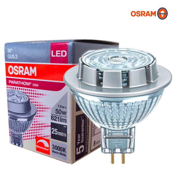 Réflecteur LED PARATHOM MR16 DIM GU5.3 7.8W 3000K Osram