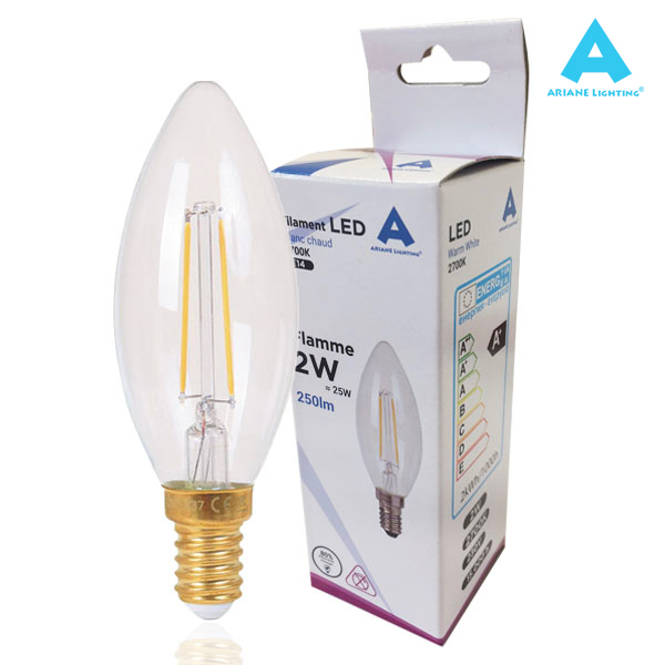 LED filament bulb E14 2W 250lm Flame Light Ariane