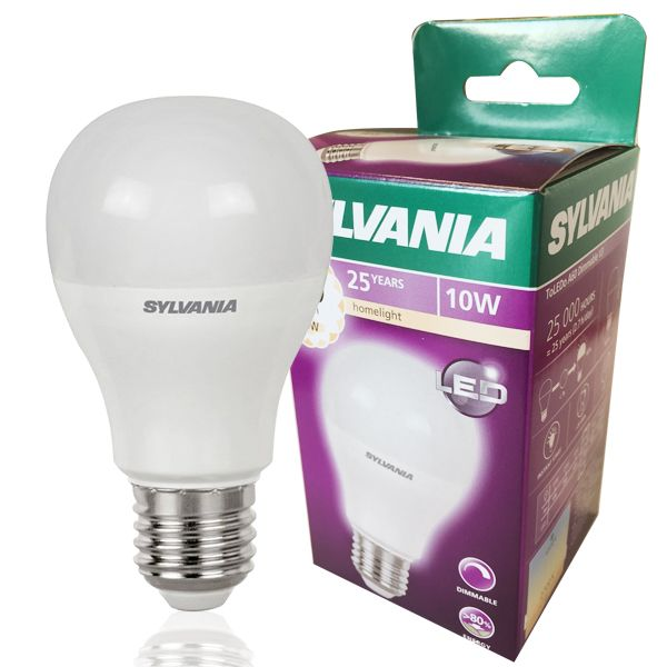 led bulb toledo e27 10w 810lm dimmable standard sylvania. Black Bedroom Furniture Sets. Home Design Ideas