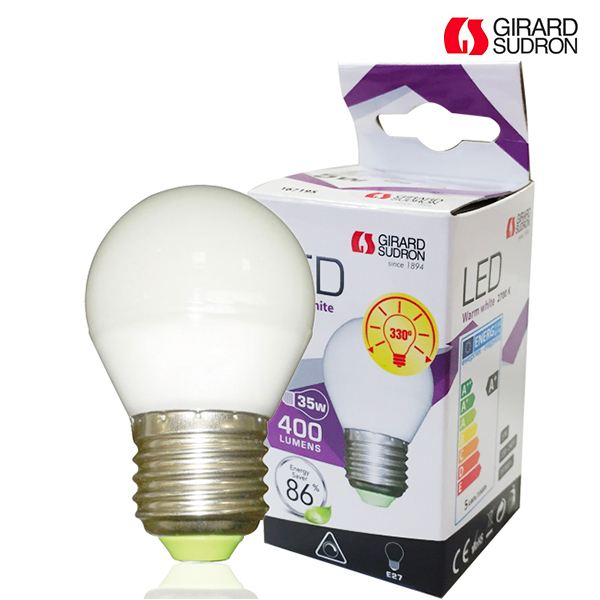 LED bulb E27 5W 400lm Spherical Dimmable Girard Sudron