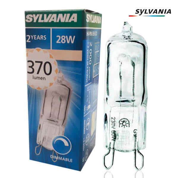 SYLVANIA HI-PIN ECO 240V 28W G9 Pack of 20