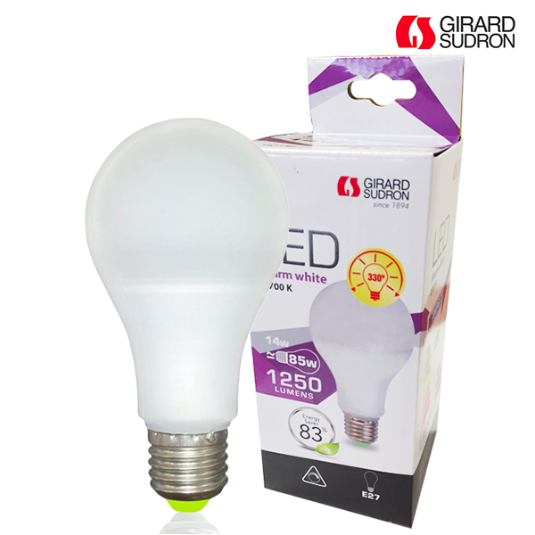LED bulb E27 14W 1250lm Standard Dimmable Girard Sudron