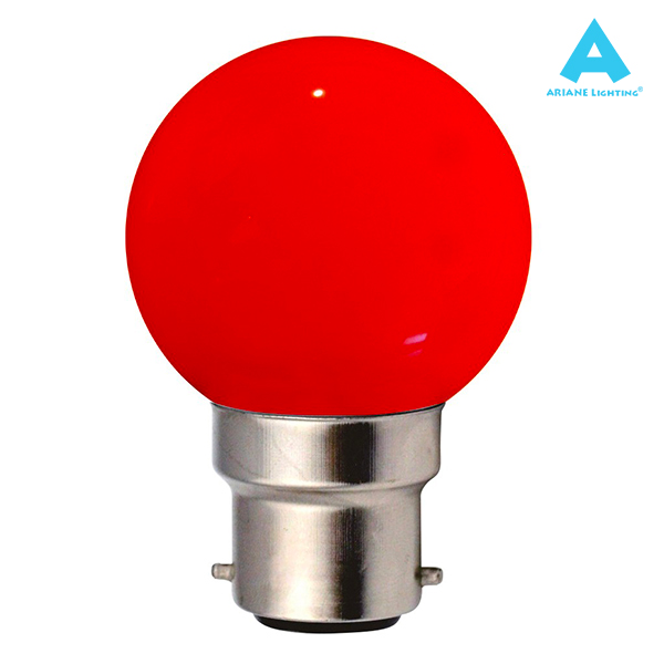 LED Bulb B22 Spherical 1W Red Ariane