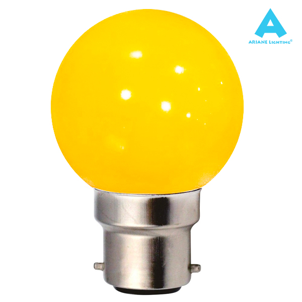 LED Bulb B22 Spherical 1W Yellow Ariane