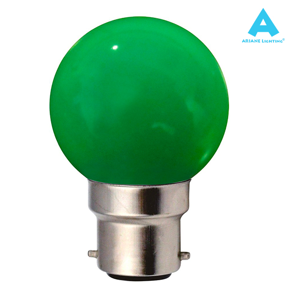 LED Bulb B22 Spherical 1W Green Ariane