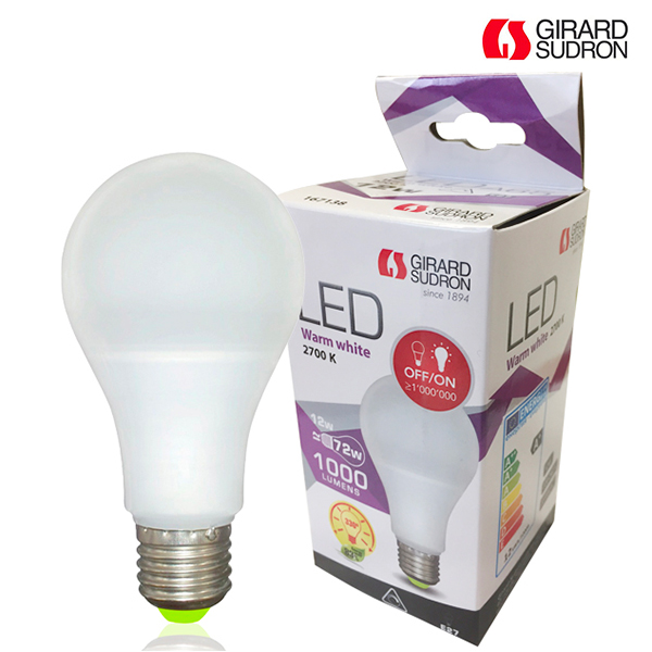 LED bulb E27 12W 1000lm Standard Dimmable 2700K Girard Sudron