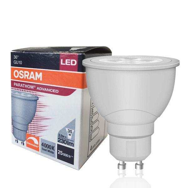 LED bulb GU10 Parathom Advanced 3.3W 4000K 36° dimmable Osram